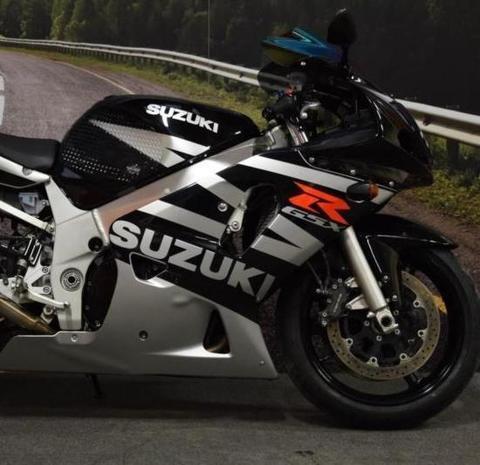 Набор наклеек Suzuki gsx-r 600 2003, черно - серебристый пластик