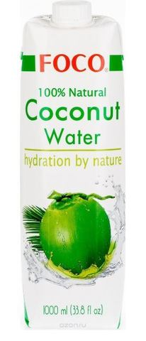 FOCO органическая кокосовая вода 1 л