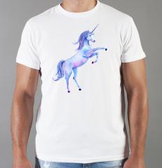 Футболка с принтом Единорог (Unicorn) белая 0057