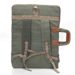 Сумка-рюкзак трансформер для художественных принадлежностей, парусина, темно-зеленый цвет