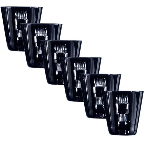 Набор из 6-х стопок для ликера Liquor, 70 мл. Серия Retro Black
