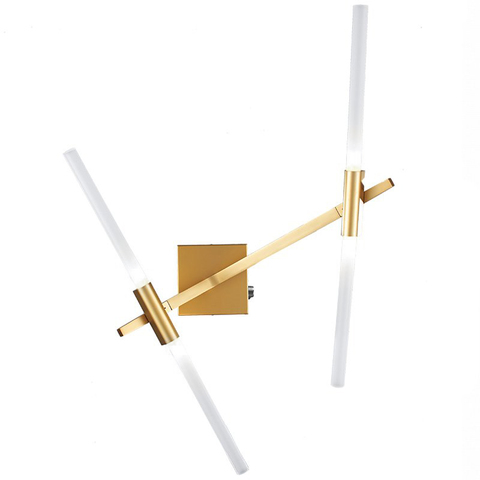Настенный светильник копия AGNES SCONCE - 4 BULBS by Lindsey Adelman (золотой)