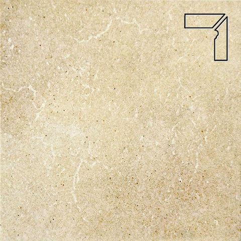 Interbau - Alpen, Allgau/Золотистый песок, цвет 044 - Клинкерный плинтус ступени правый, 3 части