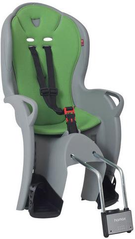 Картинка велокресло Hamax Kiss Medium серый/зеленый