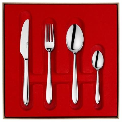 Набор столовых приборов  на 12 персон, 50 предмета, нержавеющая сталь , серебристый, артикул 155068, серия Norway