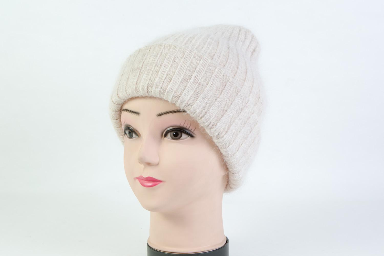 Женская шапка белая SH H9160A white
