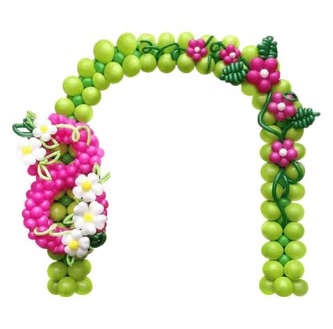 шарики на 8 марта, арка на каркасе