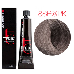 Goldwell Topchic 8SB@PK (серебристый блонд с розовым сиянием) - Cтойкая крем краска