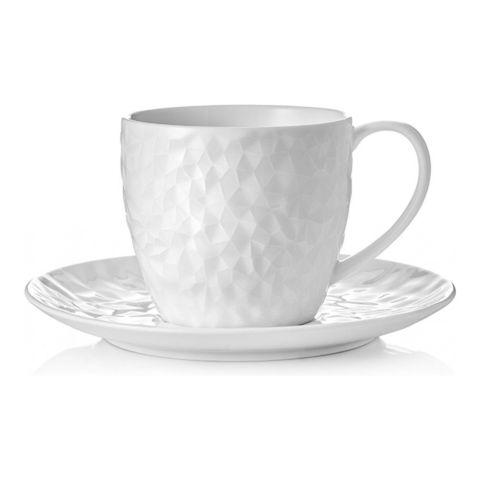 Набор чашка с блюдцем Walmer Crystal, (0,1 литра), белый