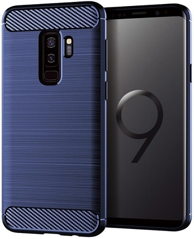 Чехол Samsung Galaxy S9 Plus цвет Blue (синий), серия Carbon, Caseport