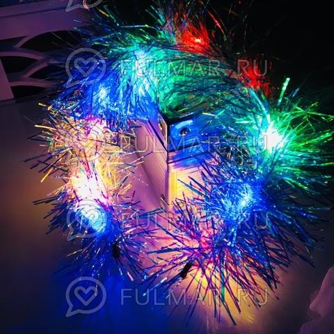 Ободок на голову новогодний светящийся Принцесса Снежная Блёстка