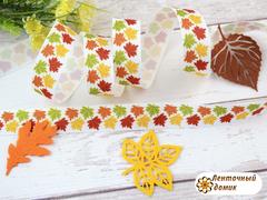 Лента репсовая Кленовые листья 22 мм