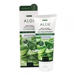 Jigott Natural Aloe Foam Cleansing - Пенка очищающая с алоэ