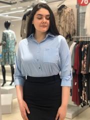 Блузка Katex рубашка ромбики 3/4 (В20)