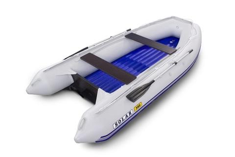 Надувная ПВХ-лодка Солар - 380 Jet Tunnel (светло-серый)
