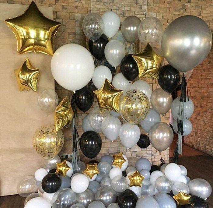 Украшение зала шарами Оформление гелиевыми шарами Изыск fotozona_na_novyy_god2.jpg