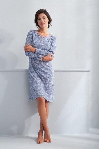 Синяя Сорочка женская Luna 065