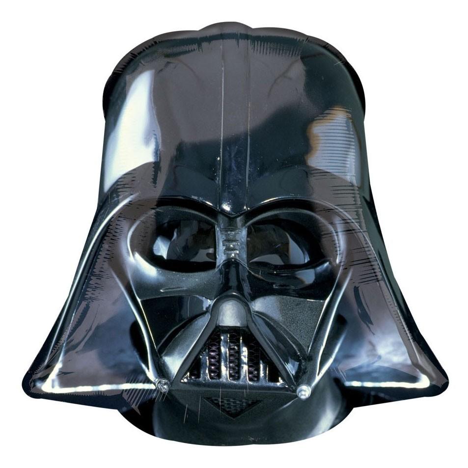 Шары Звёздные воины Шар фольга Шлем Вейдера 1209.jpg