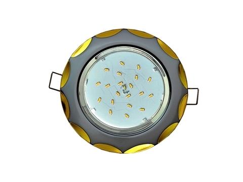Ecola Светильник GX53 H4 Звезда серебро/золото