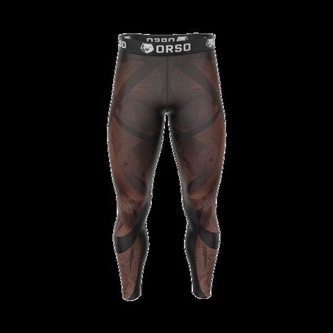 купить мужские тайтсы леггинсы orso maori rongo для бега фитнеса единоборств занятий спортом