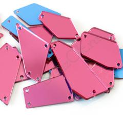Украсить одежду розовыми пришивными зеркалами Rose
