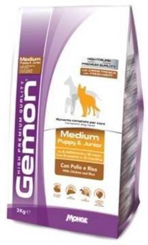 Gemon Dog Medium Puppy & Junior Chicken & Rice