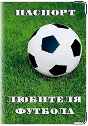 """Обложка для паспорта """"Паспорт любителя футбола"""""""