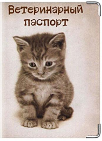 """Обложка для ветеринарного паспорта """"Кошка"""" (2)"""