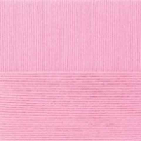 Купить Пряжа Пехорка Детская новинка Код цвета 076-Розовый бутон | Интернет-магазин пряжи «Пряха»