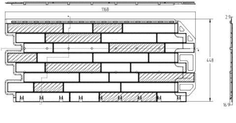 Фасадная панель Альта Профиль Кирпич антик Александрия 1160х450 мм