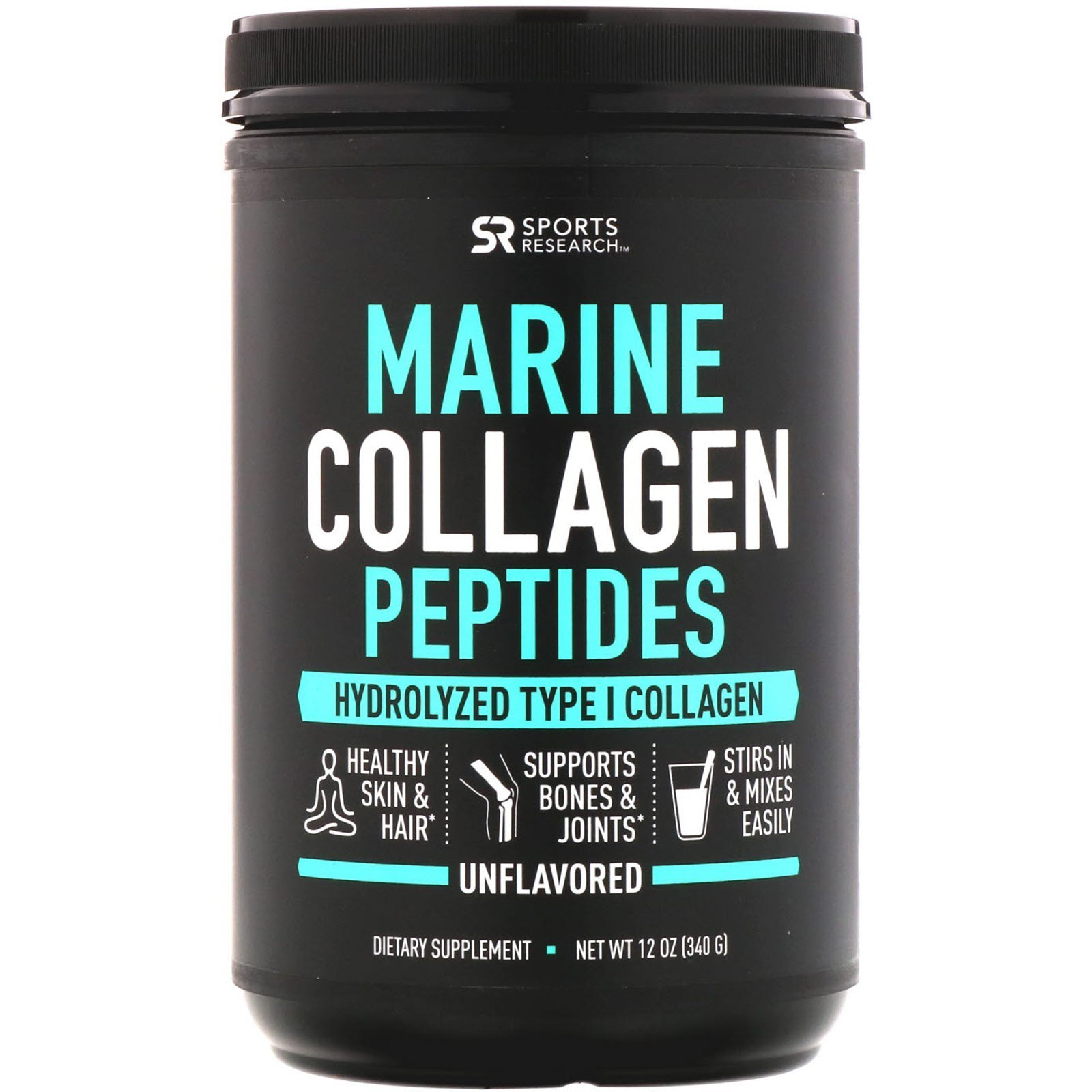 Морской коллаген, Sports Research, 340 гр