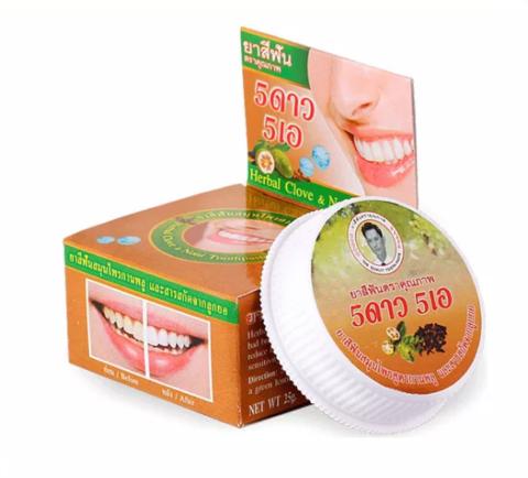 Отбеливающая зубная паста с экстрактом нони 5Star, 25 гр.