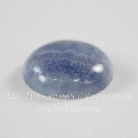 Кабошон круглый Агат голубой 20 мм