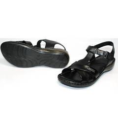 Черные женские босоножки Evromoda 15 Black.