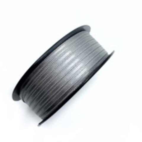 Атласная лента 3,5 мм, серая