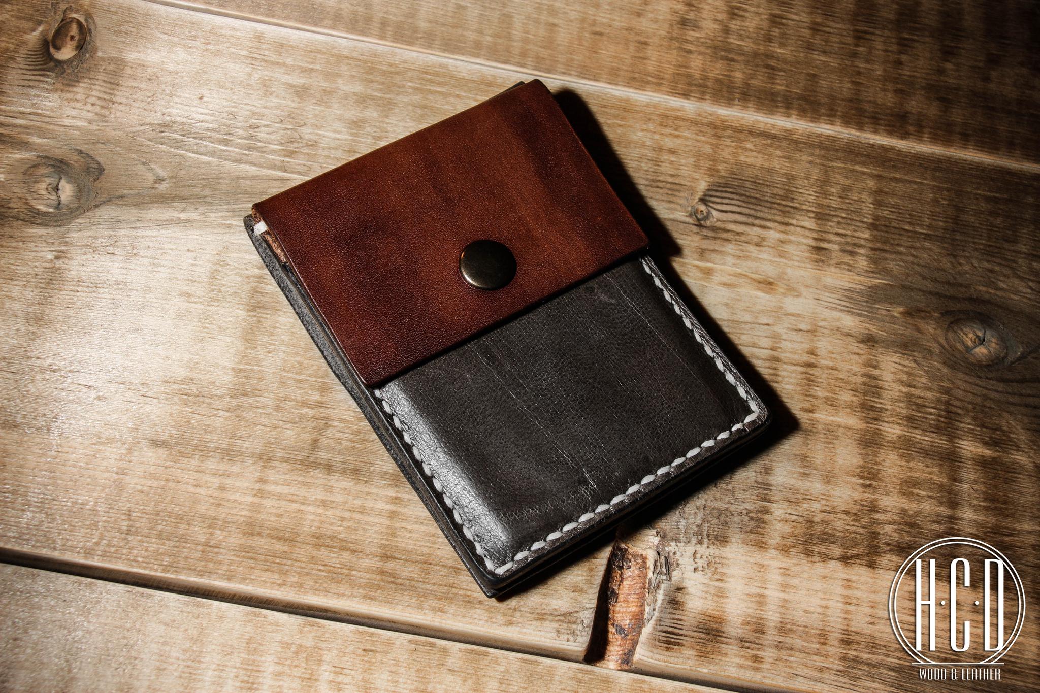 Кожаный кардхолдер - кошелек