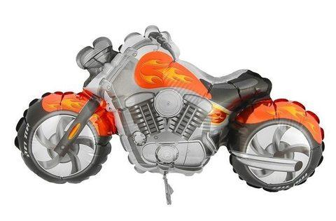 Фольгированный шар Мотоцикл оранжевый