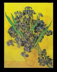 """Репродукция """"Ван Гог - Натюрморт: ваза с ирисами на желтом фоне"""""""