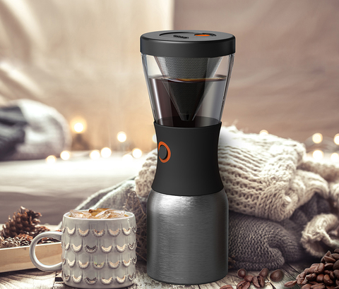 Кофеварка портативная Asobu Cold Brew (1 литр), серебристая