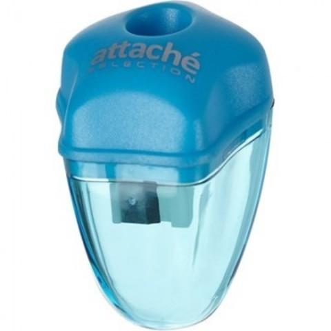Точилка Attache Selection с контейнером голубая
