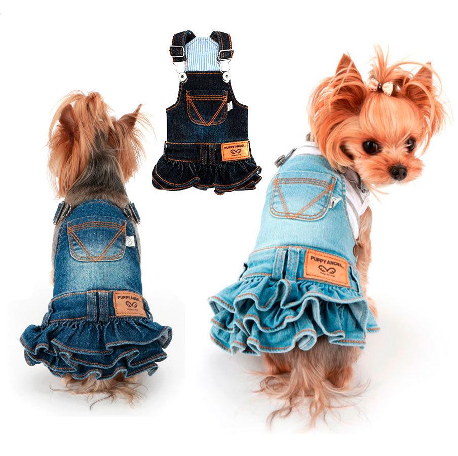 джинсовые сарафаны для собак