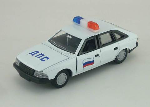 Moskvich-2141 DPS Police white Agat Mossar Tantal 1:43