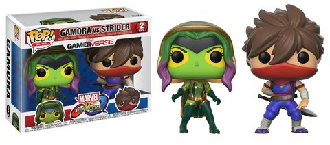 Фигурка Funko POP! Vinyl 2-Pack: Capcom vs. Marvel: Gamora vs Strider 22776