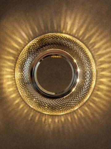 Светильник встраеваемый 8119-3W-CL Прозрачный+Диодная подсветка