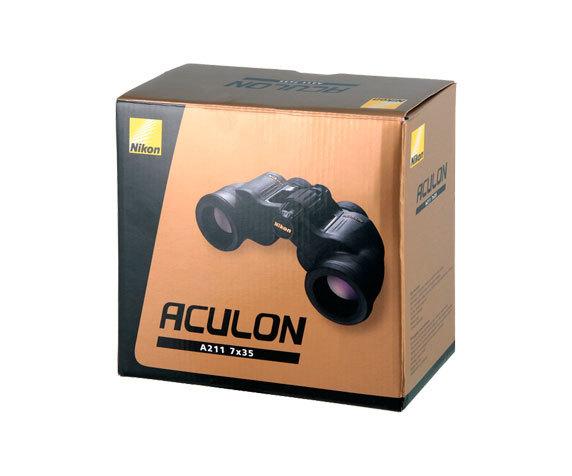 Бинокль Nikon Aculon A211 7x35: коробка
