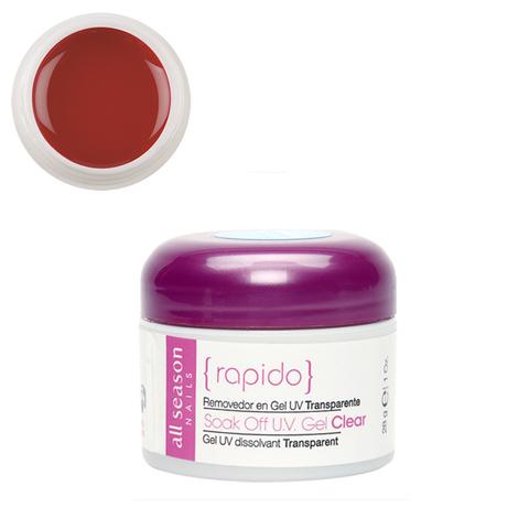 Цветной Soak of gel Rapido Red 28,4 мл.