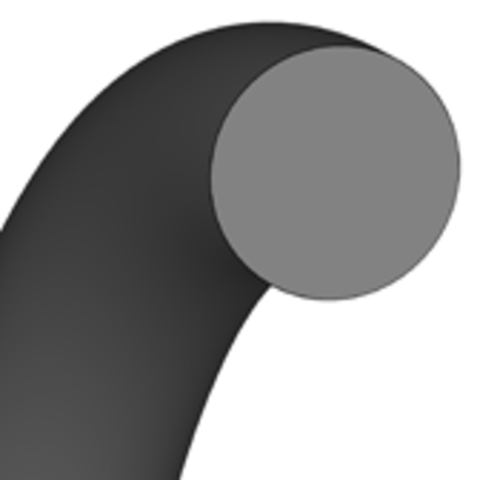Кольцо круглого сечения O-Ring   16 X 1 MM   70 NBR NB702822 Black