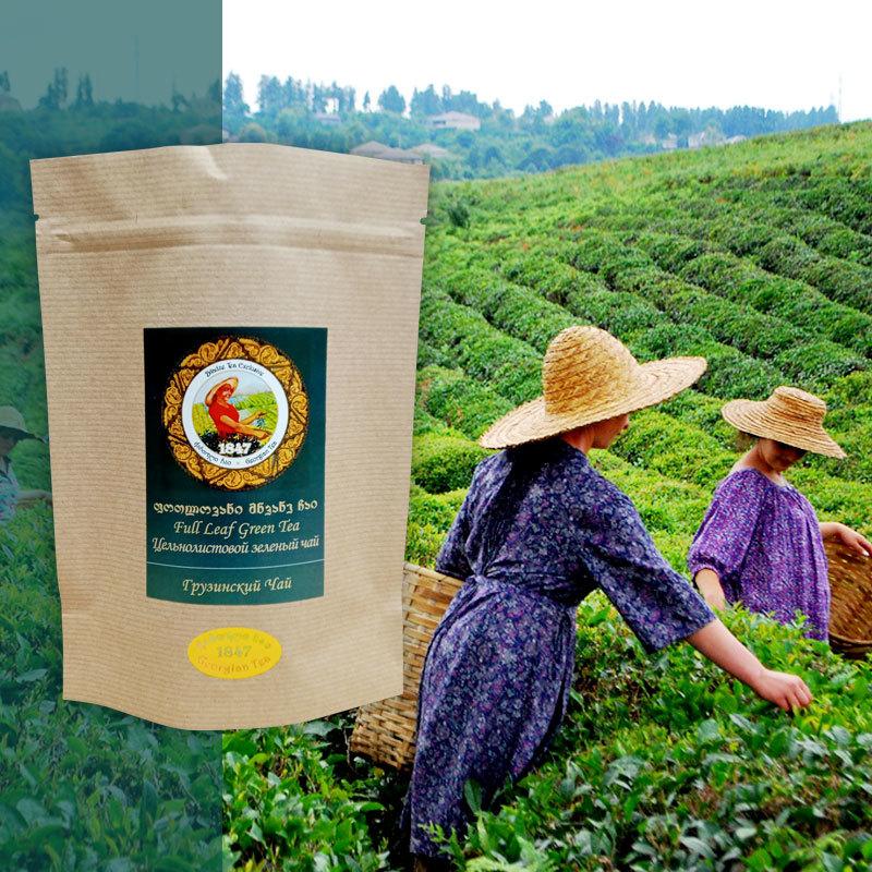 Грузинский скрученный зеленый чай, 50 гр