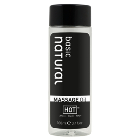 МАССАЖНОЕ МАСЛО ДЛЯ ТЕЛА HOT BASIC NATURAL,100 МЛ