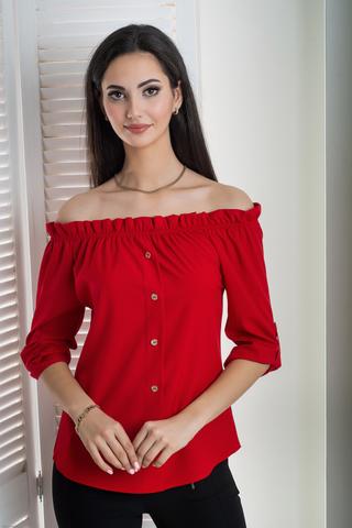 Мика. Молодежная оригинальная летняя блуза. Красный